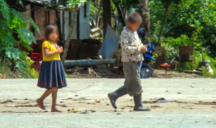 Niñez indígena, arrebatada por el conflicto