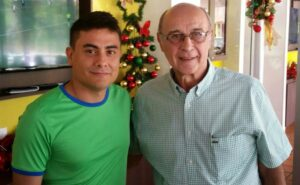 En compañía de Hugo Horacio Lóndero (2017), en su restaurante Londero's Sur, en Cúcuta.