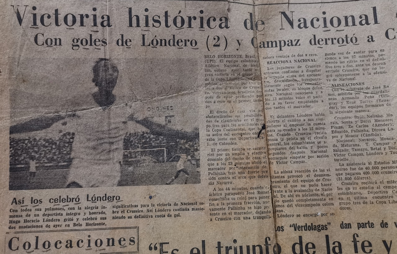 Hugo Horacio Lóndero. El Colombiano 1975.